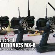 How to tutorial:  SANWA / AIRTRONICS MX-A external LRS radio module mods for FPV