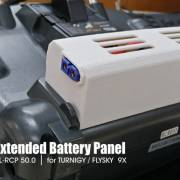 XL-RCP 50.0: Extended battery panel for TURNIGY / FLYSKY 9X