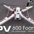 DIY Hybrid foamy FPV 600mm - MultiWii Pro
